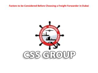 Choosing a Freight Forwarder in Dubai