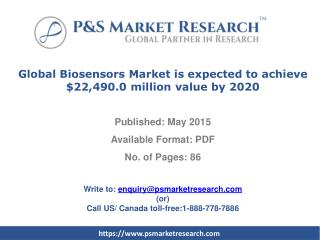 Global Biosensors Market Forecast to 2020