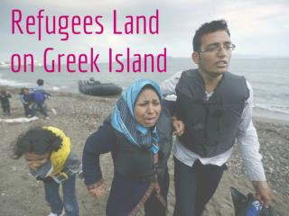 Refugees Land on Greek Island