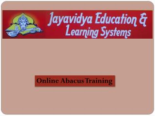 Online Abacus Training