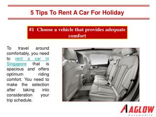 5 Tips to rent a car for holiday