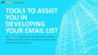 Tools to Assist you in Developing Your Email List