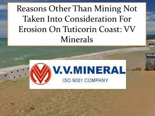 Reasons Other Than Mining Not Taken Into Consideration For E