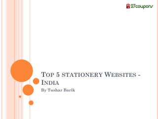 Top 5 Stationery Websites in India