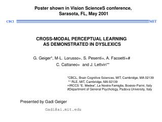 Poster shown in Vision ScienceS conference,  Sarasota, FL, May 2001