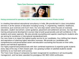 Tranz Canz Overseas Services Private Limited