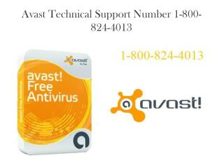 Avast Antivirus Support Number 1-800-824-4013