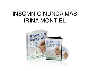 Insomnio Nunca Mas libro pdf Irina montiel
