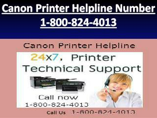 1-800-824-4013 Canon Printer Helpline Number