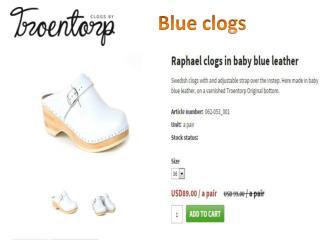 Blue Clogs- troentorpsclogs.com