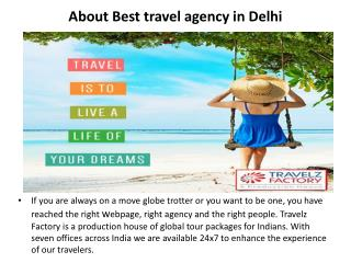 About best travel agency in Delhi