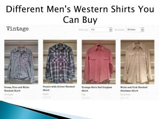 Different Men's Western Shirts You Can Buy