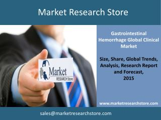 Gastrointestinal Hemorrhage Global Clinical Market  Trials R