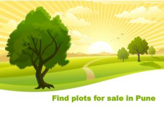 Find plots for sale in Pune