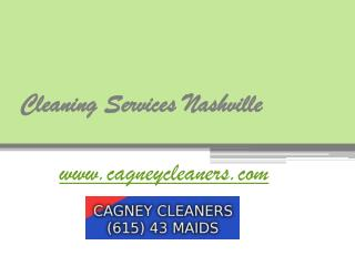 Nashville Cleaning Company - www.cagneycleaners.com