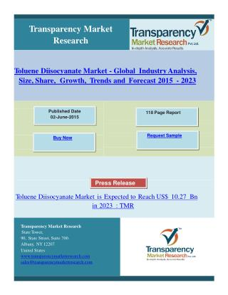 Toluene Diisocyanate Market Research