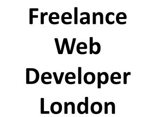 Freelance Web Developer London