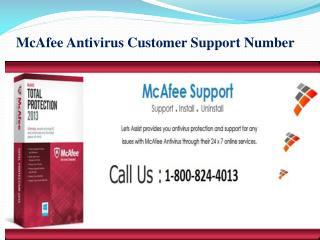 McAfee Antivirus Customer Support Number 1-800-824-4013