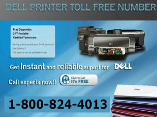 Dell Printer Tech Support| Toll Free Number 1-800-824-4013
