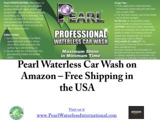 Pearl Waterless Car Wash on Amazon – Free Shipping in the US