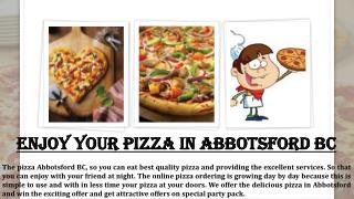 Pizza delivery abbotsford