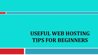 Useful Web Hosting Tips For Beginners