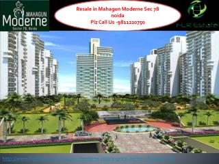 Mahagun Moderne Resale 9811220750 Price Sector 78 Noida, Lay