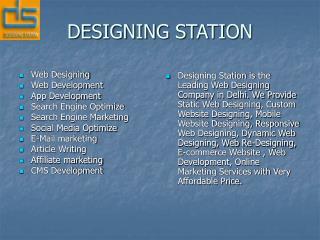 Web Designing Company Delhi
