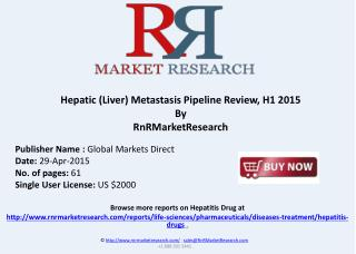 Hepatic (Liver) Metastasis – Pipeline Review, H1 2015