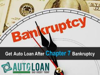 Car Loans After Chapter 7 Bankruptcy