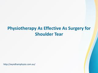 Physiotherapy As Effective As Surgery For Shoulder Tear