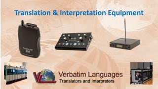 Translation & Interpretation Equipment
