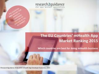 EU Countries' mHealth App Market Ranking 2015