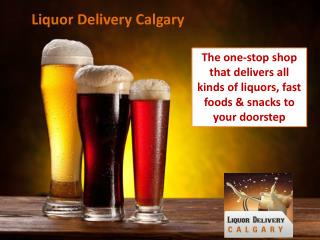 The one-stop shop that delivers all kinds of liquors, fast f