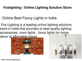 Online Best Fancy Lights in India