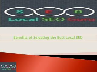 Selection for Best Local SEO