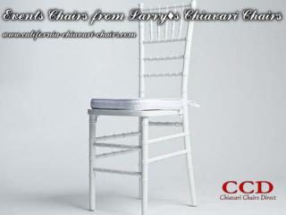 Events Chairs from Larry's Chiavari Chairs
