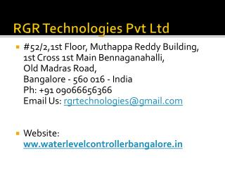 Water Level Controller in Bangalore @ Call: 09066656366