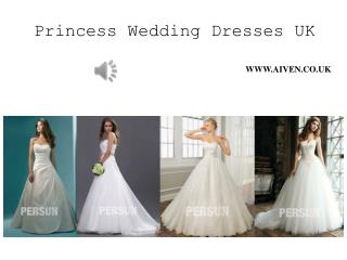 Inexpensive Princess Style Wedding Gown