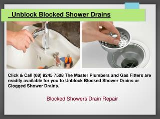 Blocked Showers Drain