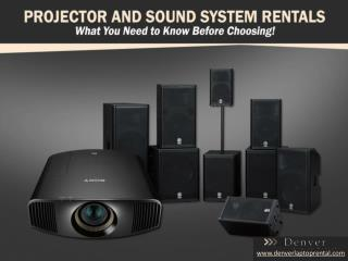 Denver Projector and Sound System Rental