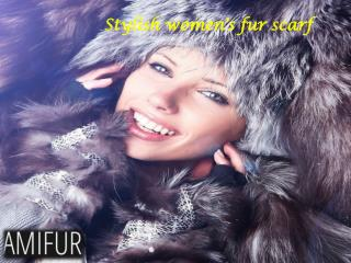 Stylish women's fur scarf