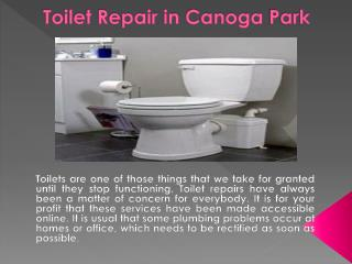 Toilet Repair in Canoga Park