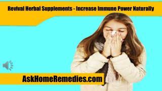 Revival Herbal Supplements - Increase Immune Power Naturally