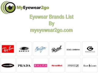 Eyewear Brands List