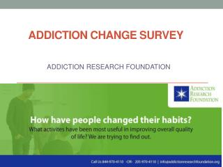 Addiction Research Foundation- Survey Change