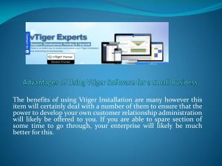 Advantages of Using Vtiger Software for a Small Business