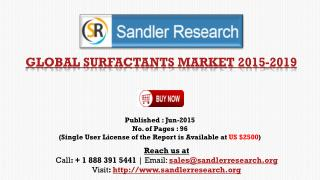 Surfactants Market to Grow at 6% Compound Annual Growth Rate