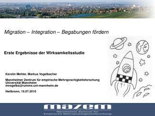 Migration   Integration   Begabungen f rdern     Erste Ergebnisse der Wirksamkeitsstudie