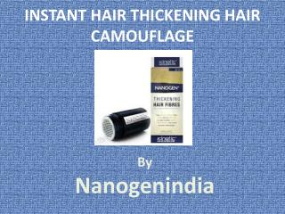 Instant Hair Thickening Solution By Nanogenindia